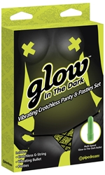 Crotchless Panty Floral Glow In The Dark